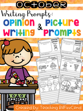 Load image into Gallery viewer, October Writing Prompts : Opinion Writing & Picture Prompts