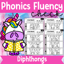 Load image into Gallery viewer, Phonics Fluency Check (Diphthongs)