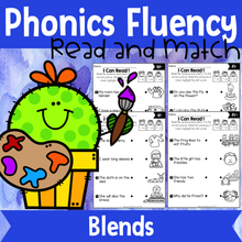 Load image into Gallery viewer, Phonics Fluency Read and Match (Blends)