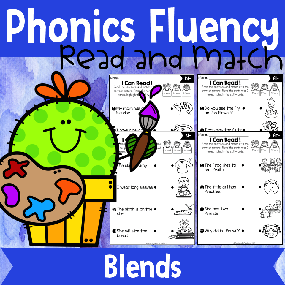 Phonics Fluency Read and Match (Blends)