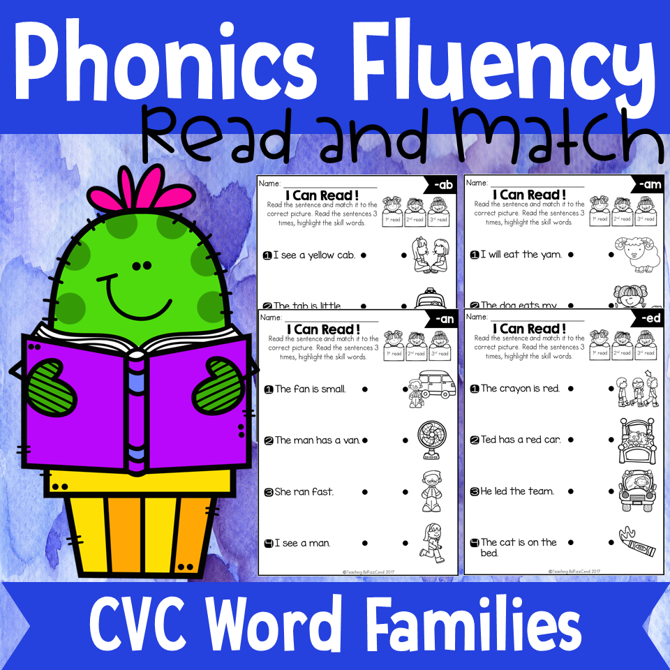 Phonics Fluency Read and Match (CVC)