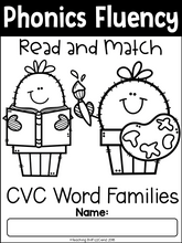 Load image into Gallery viewer, Phonics Fluency Read and Match (CVC)