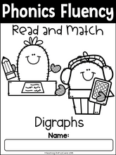 Load image into Gallery viewer, Phonics Fluency Read and Match (Digraphs)