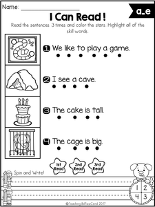 Phonics Fluency Read and Write The Bundle
