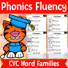 Load image into Gallery viewer, Phonics Fluency Read and Write (CVC)