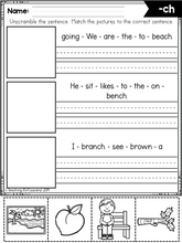 Load image into Gallery viewer, Phonics Sentence Building (Digraphs)
