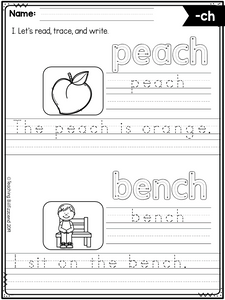 Phonics Writing Practice The Bundle