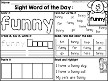 Load image into Gallery viewer, Sight Word of the Day Reading and Writing Fluency (Pre-Primer)