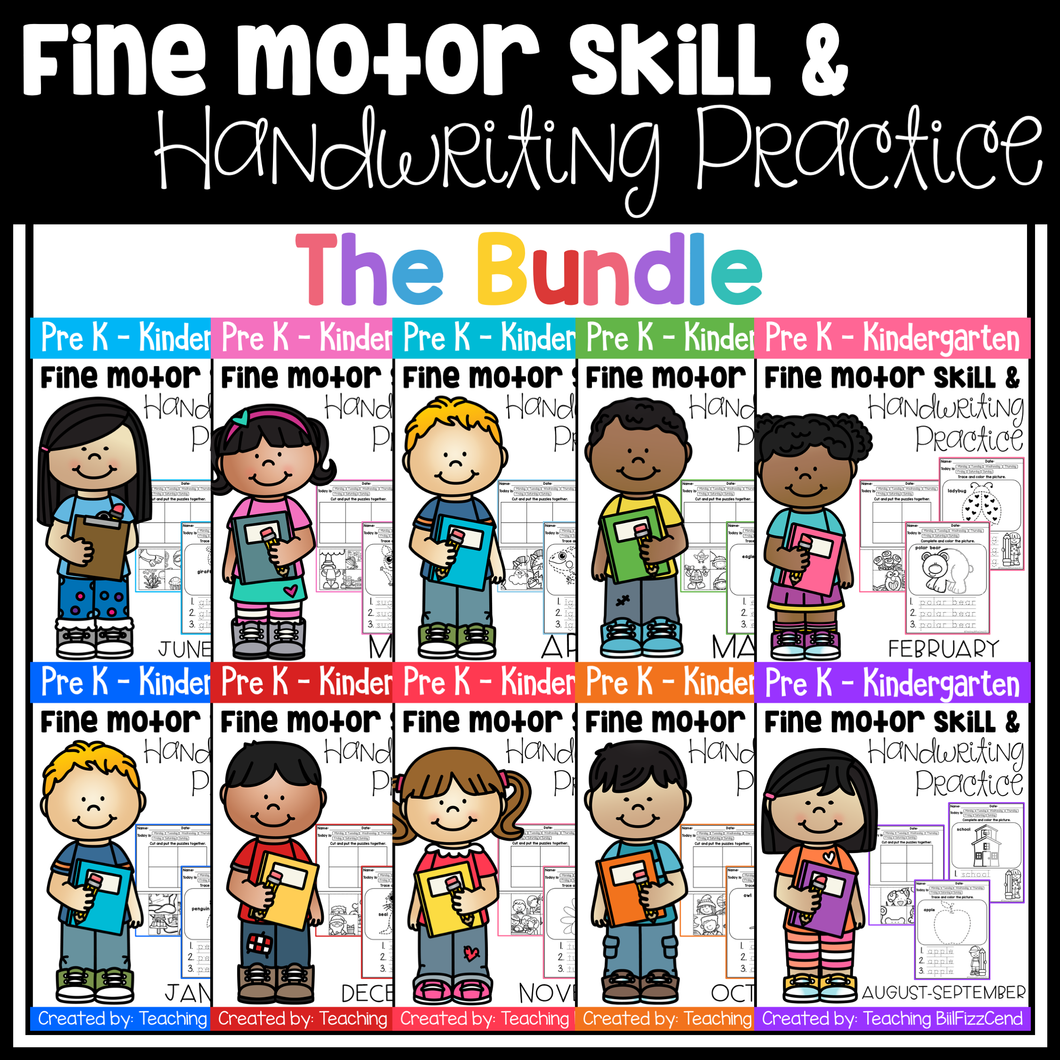 Fine Motor Skills and Handwriting Practice (The Bundle)