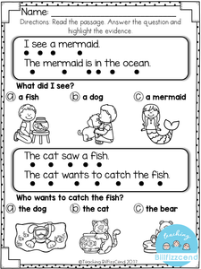 Free Reading Comprehension For Early Readers
