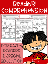 Load image into Gallery viewer, Reading Comprehension For Early Readers Set 2