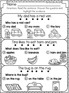 Reading Comprehension For Early Readers Set 2