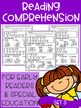 Load image into Gallery viewer, Reading Comprehension For Early Readers Set 3