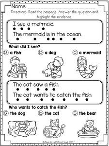 Reading Comprehension For Early Readers Set 3