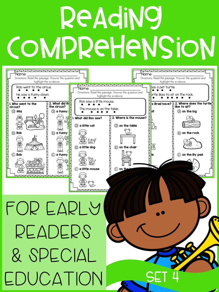 Reading Comprehension For Early Readers Set 4