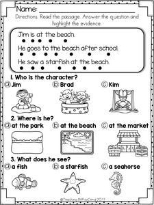 Reading Comprehension For Early Readers Set 5