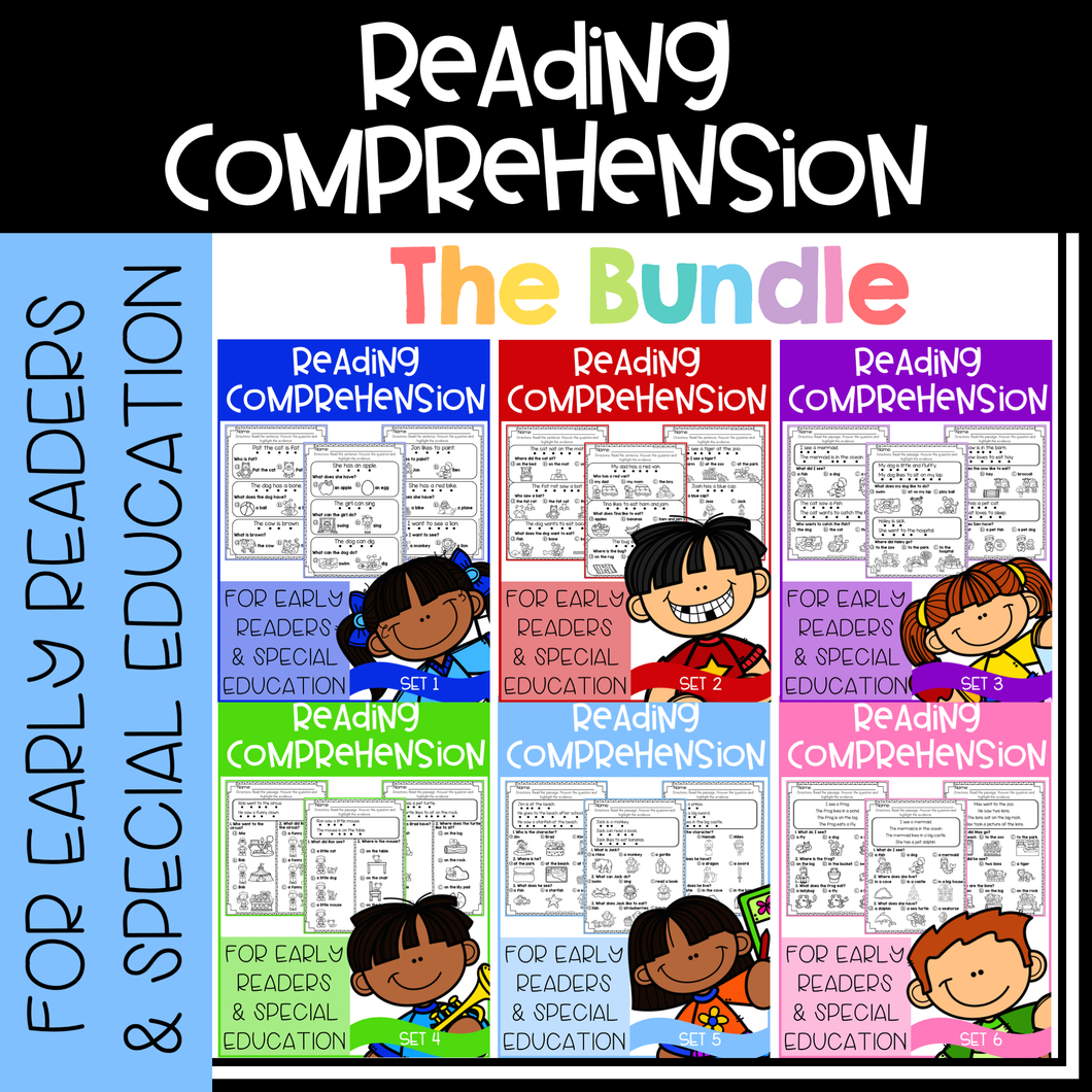 Reading Comprehension For Early Readers (The Bundle)