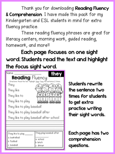 Reading Fluency and Comprehension Primer