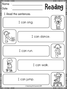 Reading Sentences Set 1