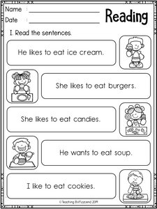 Reading Sentences Set 3