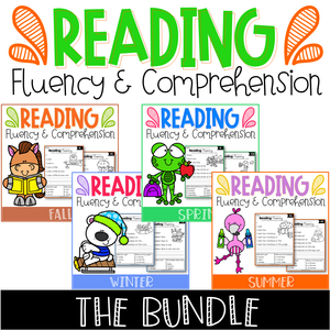 Seasonal Reading Fluency and Comprehension (The Bundle)