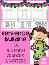Load image into Gallery viewer, Sentence Building For Beginning Readers & Writers (Set 1)