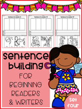 Load image into Gallery viewer, Sentence Building For Beginning Readers & Writers (Set 4)