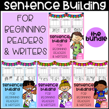 Load image into Gallery viewer, Sentence Building For Beginning Readers & Writers (The Bundle)