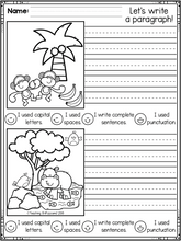 Load image into Gallery viewer, September First Grade Writing Activities
