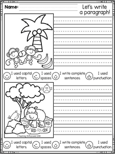 September First Grade Writing Activities