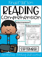 Load image into Gallery viewer, September Reading Comprehension Read and Match