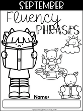 Load image into Gallery viewer, September Reading Fluency Phrases