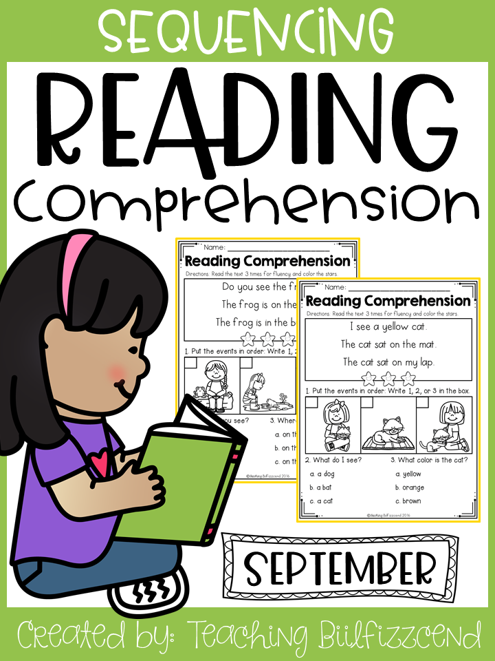 September Sequencing Reading Comprehension