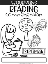 Load image into Gallery viewer, September Sequencing Reading Comprehension