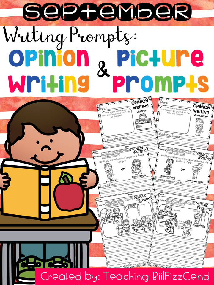 September Writing Prompts : Opinion Writing & Picture Prompts