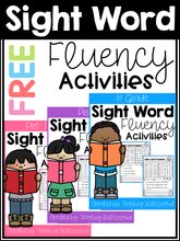 Load image into Gallery viewer, Sight Word Fluency Activities Freebies
