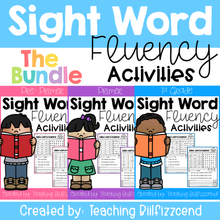 Load image into Gallery viewer, Sight Word Fluency Activities The Bundle