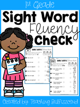 Load image into Gallery viewer, Sight Word Fluency Check 1st Grade