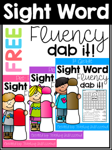 Sight Word Fluency Dab Freebies