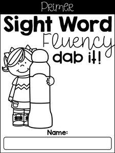 Sight Word Fluency Dab Set 2