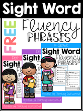 Load image into Gallery viewer, Sight Word Fluency Phrases Freebies
