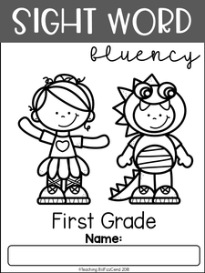 Sight Word Fluency Read and Color First Grade