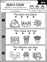 Load image into Gallery viewer, Sight Word Fluency Read and Color Primer