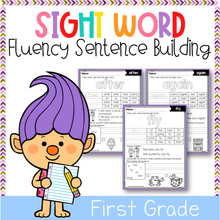 Load image into Gallery viewer, Sight Word Fluency Sentence Scramble (First Grade)