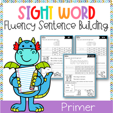 Load image into Gallery viewer, Sight Word Fluency Sentence Scramble (Primer)