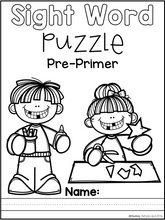Load image into Gallery viewer, Sight Word Puzzle (Pre-Primer)