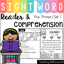 Load image into Gallery viewer, Sight Word Reader and Comprehension SET 1