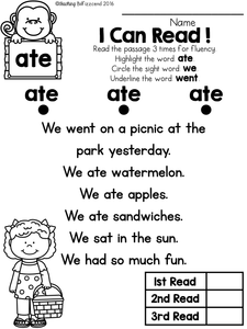 Sight Word Reader and Comprehension SET 2
