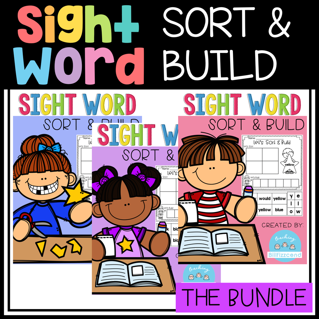 Sight Word Sort and Build (The Bundle)