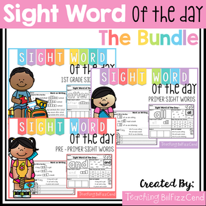 Sight Word of the Day Reading and Writing Fluency (The Bundle)